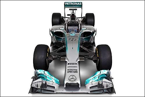 Мерседес F1 W05: демонстрации свежих автомашин