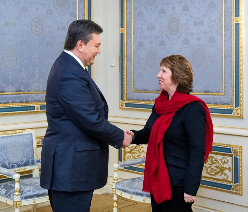 Янукович столкнулся с Кэтрин Эштон