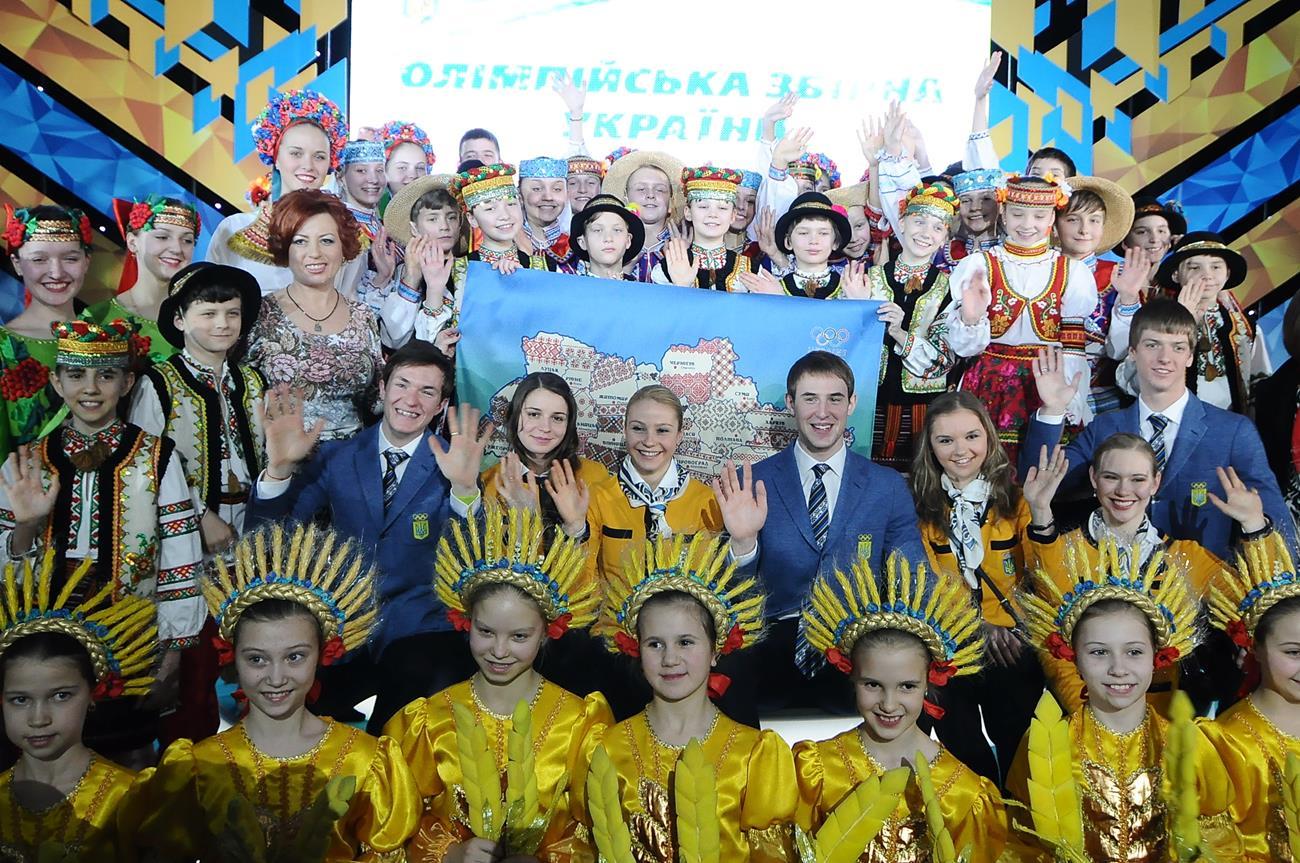 Украина провела спортсменов на Олимпиаду в Сочи