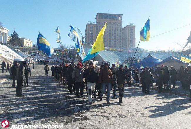 Демонстрация на Грушевского и Всенародное парламент на Майдане (ФОТО)