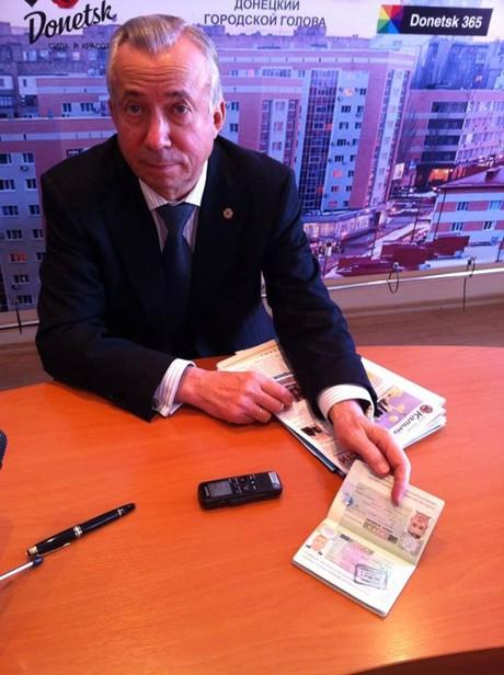 Донецкий губернатор не опасается наказаний - у него имеется виза