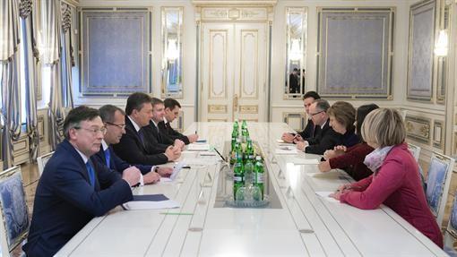 Детали встречи Януковича и Эштон
