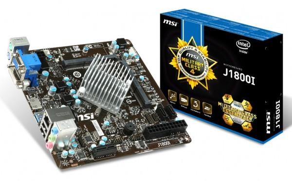 MSI продемонстрировала оплату J1800I с микропроцессором Celeron J1800