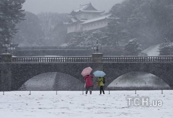 В Японии неслыханный снег