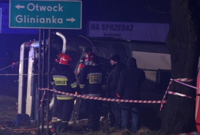 Фото с места ДТП в Польше, в котором погибло два украинца