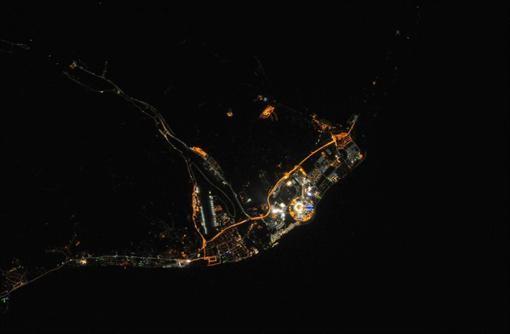 Как выглядит ночной Сочи с космоса (ФОТО)