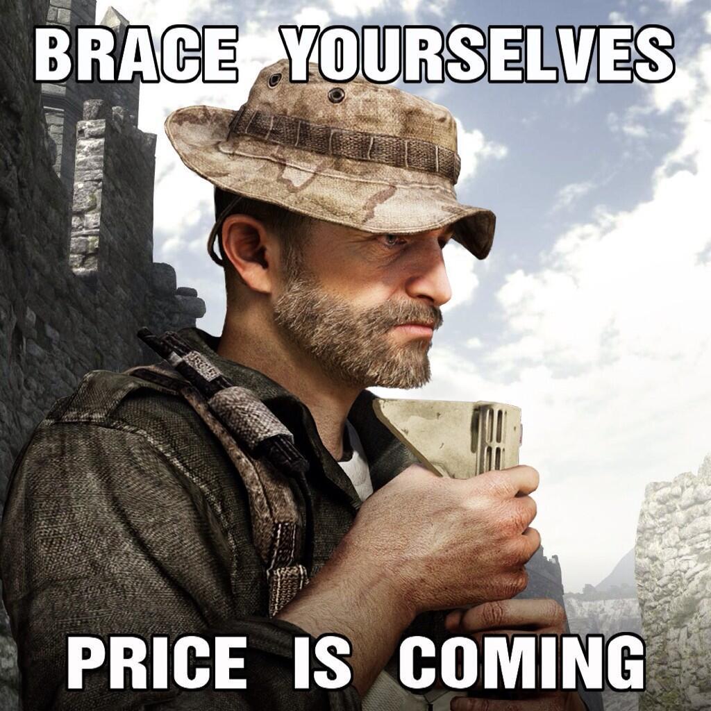 Капитан Прайс вернется в Call of Duty: Ghosts