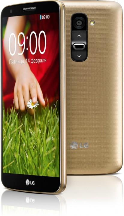 Смартфон LG G2 доступен в золотистом цвете