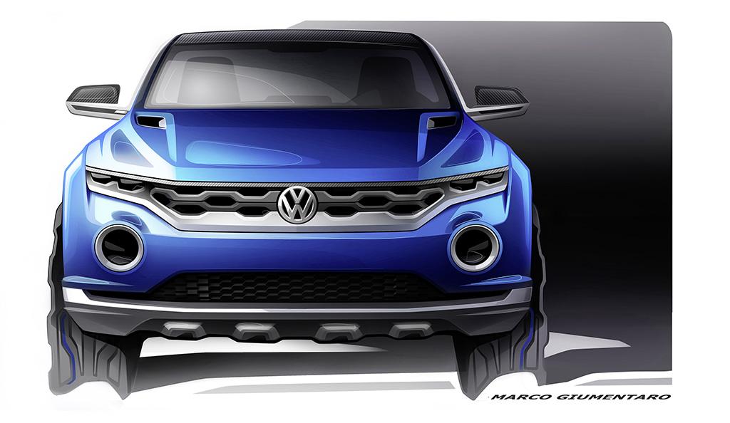 Volkswagen представила наброски кроссовера Juke