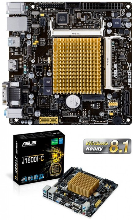 Плата стандарта Mini-ITX с CPU поколения Bay Trail-D