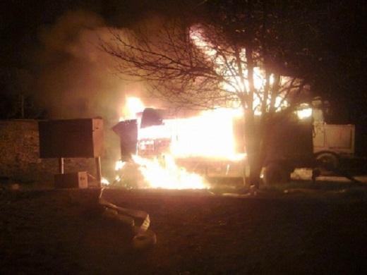 На территории аэродрома Бельбек начался пожар