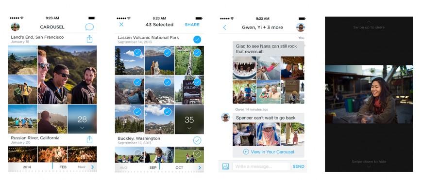 Dropbox запустила приложение Carousel для iOS и Android