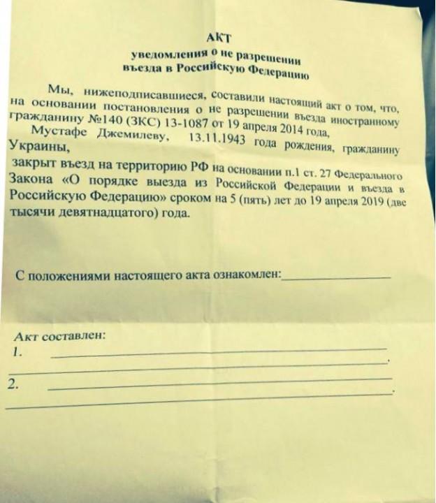 Что дадут России санкции против Джемилева?