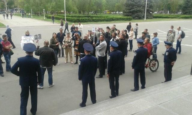 Одесситы решили высказать Парубию свое мнение о власти