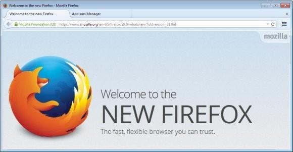 Mozilla представляет Firefox 29 с обновлённым интерфейсом