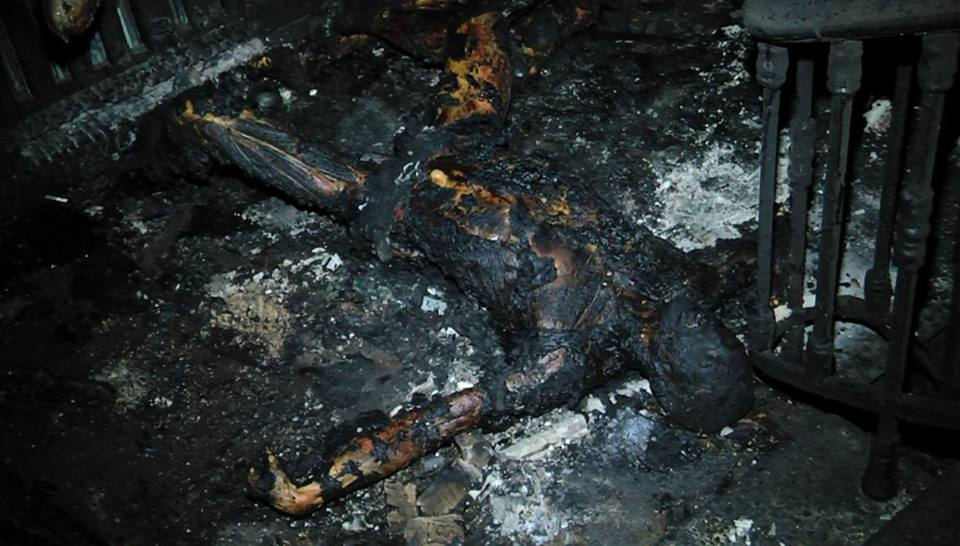 Страшные фото из сгоревшего одесского Дома профсоюзов (ФОТО)