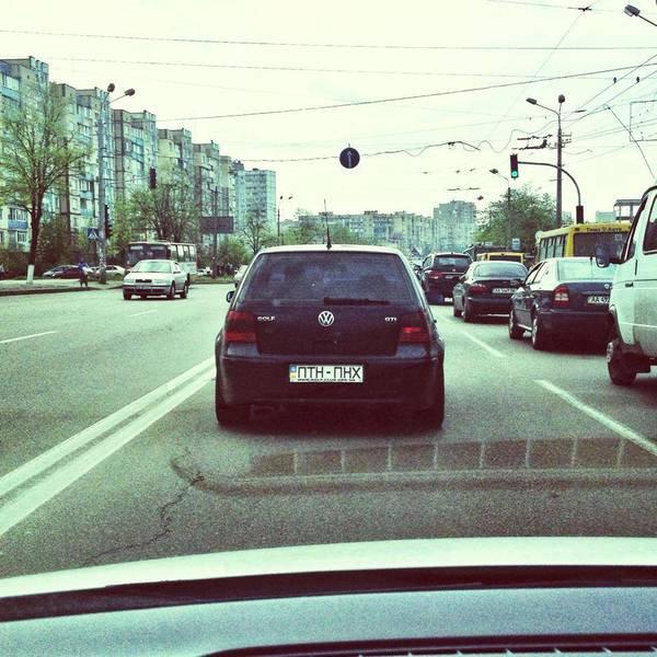 Украинские автомобилисты «передают приветы» Владимиру Путину