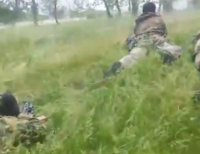 Журналисты РФ и террористы устроили обстрел Нацгвардии.ВИДЕО