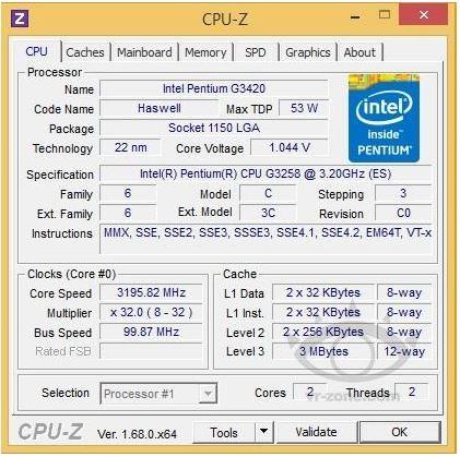 Юбилейный разблокированный процессор Pentium G3258