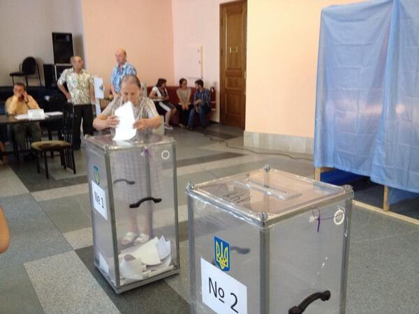 В Донецкой области проходит голосование (ФОТО)