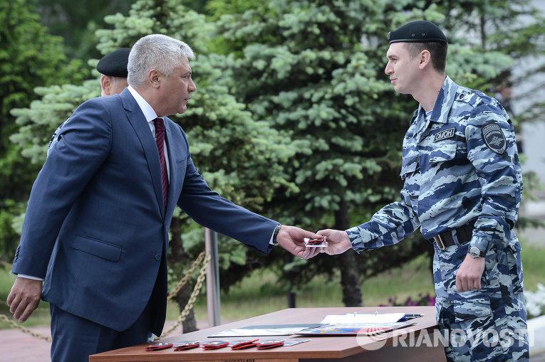 10 бывших сотрудников Беркута приняли присягу МВД России