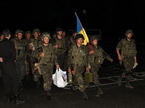 Первый батальон Нацгвардии вернулся в Киев (ФОТО)