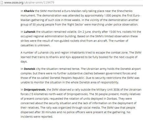 ОБСЕ опровергла, что в Луганскую ОГА палили с воздушного судна