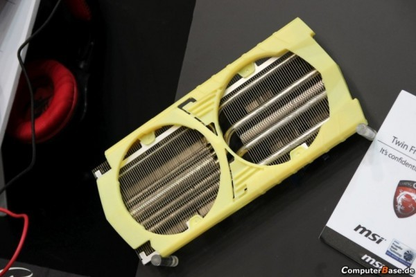 MSI продемонстрировала образец системы остывания Twin Frozr V