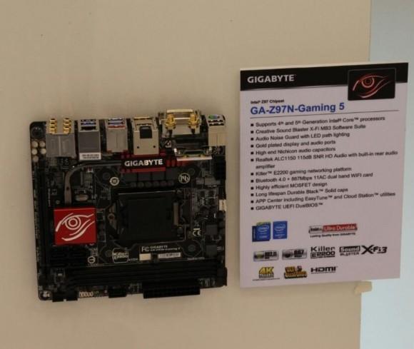 Gigabyte продемонстрировала первую mini-ITX материнку Gaming Серии