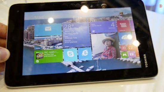 Toshiba спроектировала экономный планшетник на Виндоус 8.1 (ФОТО)