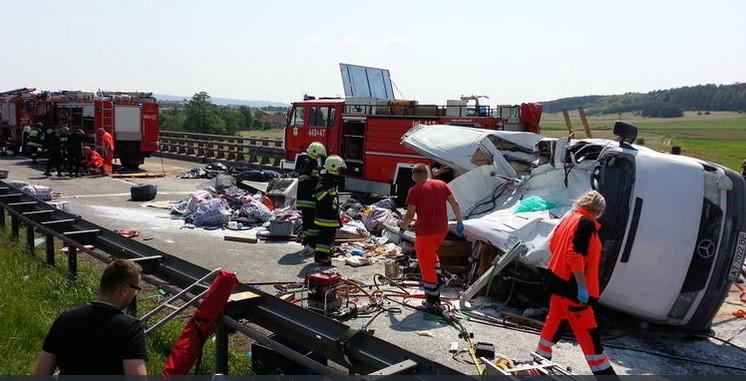 Автобус из Украины погиб в Польше (ФОТО, ВИДЕО)