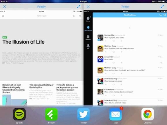 Многооконный порядок в iOS 8.0