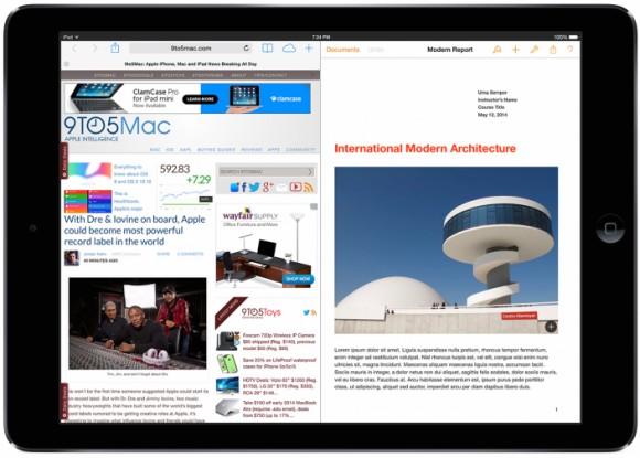 """iOS 8 предложит функцию """"поделенного дисплея"""