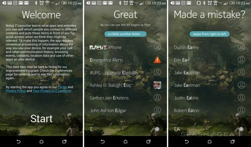 Z Launcher: Нокия продемонстрировала свежую оболочку  для Андроид