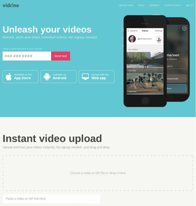Viddme - свободный неограниченный видеохостинг с GIF