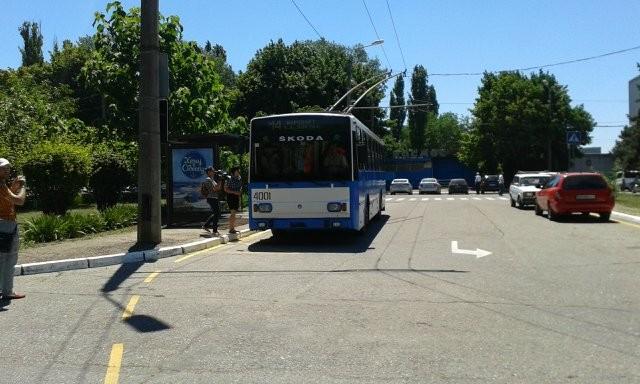 Свежий маршрут троллейбуса связал 2 вокзала в Одессе