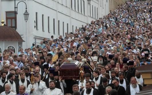 В Киево-Печерской лавре погребали митрополита Владимира. ФОТО