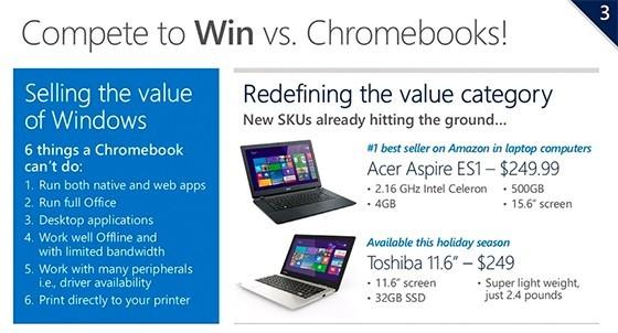 Майкрософт делает супердешевые лэптопы на ОС Виндоус