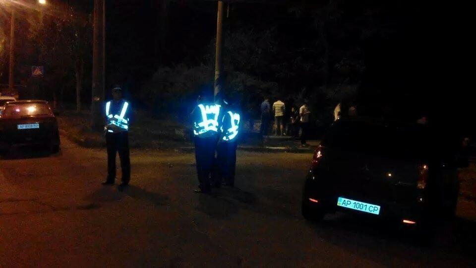 Производительный ночной взрыв в центре Запорожья