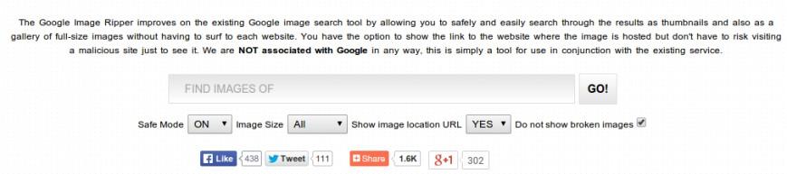 Google Image Ripper - наиболее комфортный поиск по иллюстрации