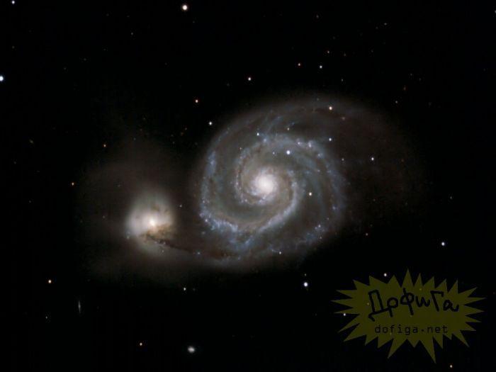 НАСА обнародовало фото сталкивающихся галактик