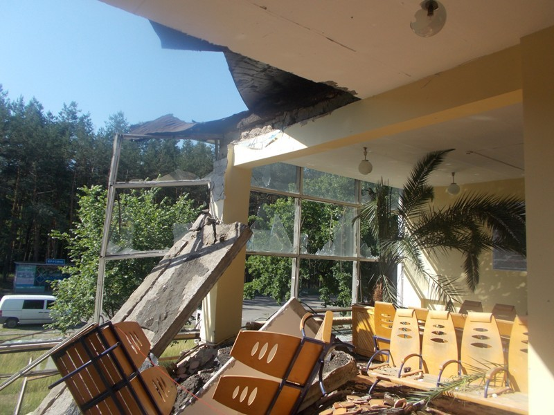 ФОТО: Боевики самолетами уничтожают ж/д установки в Донецке