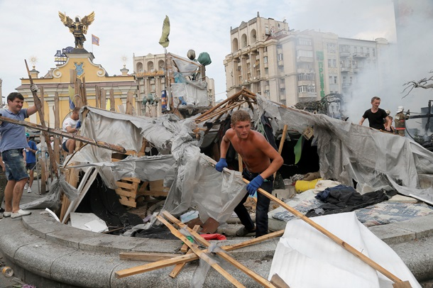 3 центральных улицы Киева сняты для проезда (ФОТО)