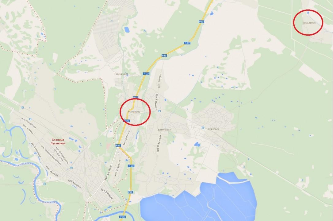 Обстрел блокпоста под Станицей Луганская из РФ