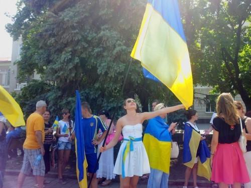 ФОТО: Собрание в Артемовске за целую Украину