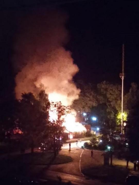 Вечером в Ужгороде дотла сгорел бар
