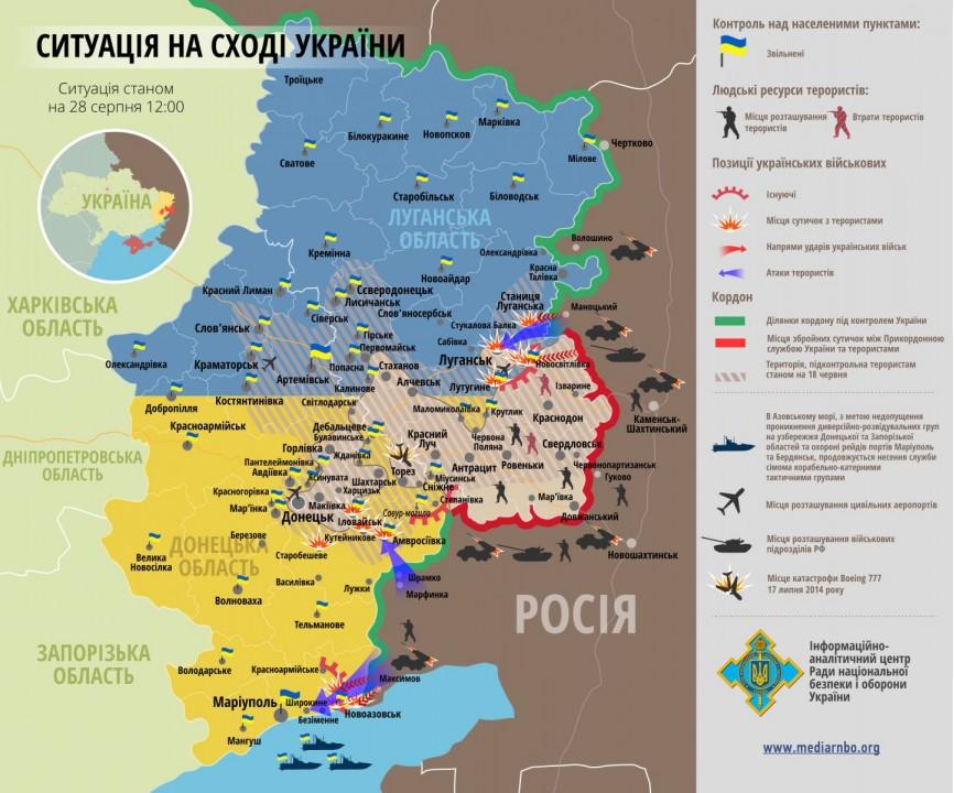 Диаграмма: Новоазовск охвачен отечественными самолетами