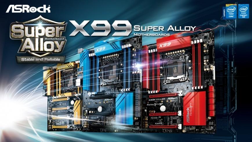 Свежие материнки ASRock X99 в дизайне Супер Alloy