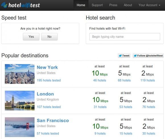 HotelWiFiTest - ищем гостиницы с отличным Wifi