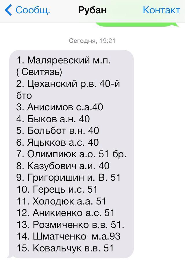 Сепаратисты освободили 15 украинских военных (ФОТО)
